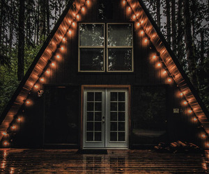 light, autumn, and house image