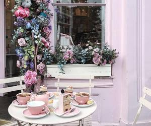 flowers, pink, and cake image