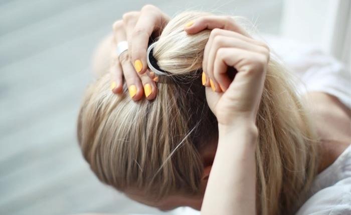hair, girl, and nails image