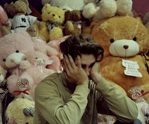 boy, teddy bear, and sad image
