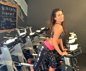 gym, lea michelle, and maquina image