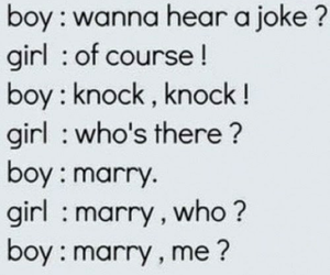 boy, marry me, and girl image