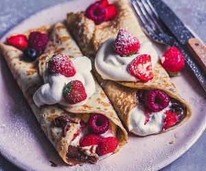 berries, crepes, and dessert image