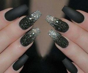 beautiful, black, and nails image