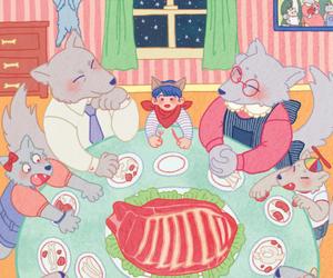 art, dinner, and family image