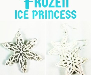 halloween costume, snow queen, and snowflakes image
