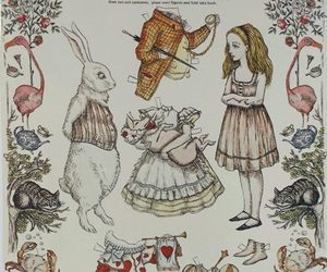 alice, lewis, and alice in wonderland image