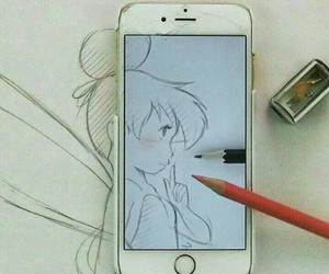 drawing and iphone image