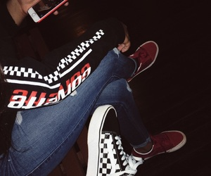 vans, checker, and style image