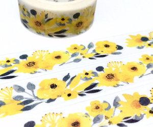 flower art, flower trim, and yellow garden image