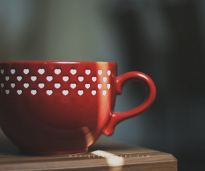 cup, red, and coffee image