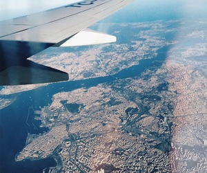 fly, sky, and istanbul image