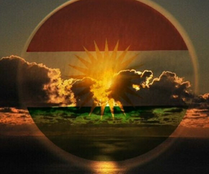 cloud, kurdistan, and flag image