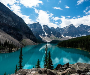 nature, mountains, and canada image