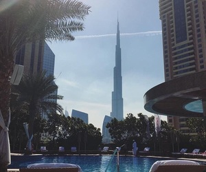 Dubai, pool, and tumblr image