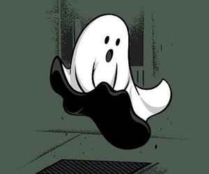 ghost, funny, and black and white image