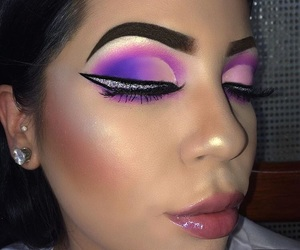 fancy, glitter, and purple image
