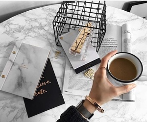 black, coffee, and gold image