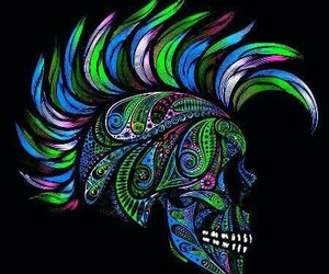 blue, neon, and neon colors image