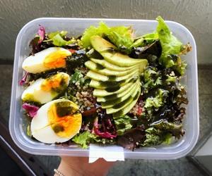 egg, healthy, and salad image