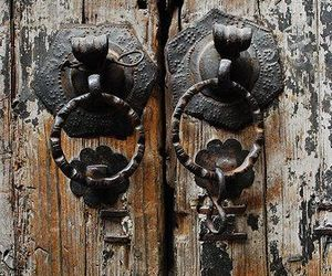 aesthetic, brown, and doors image