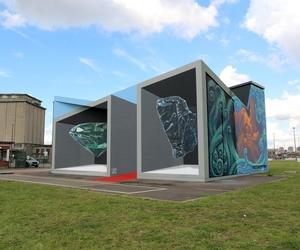 3D art, street art, and street painting image
