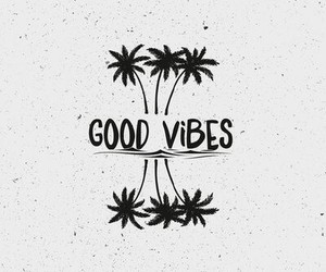beach, palm tree, and good vibes image
