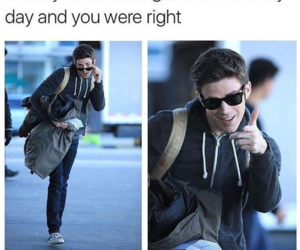 grant gustin, funny, and meme image