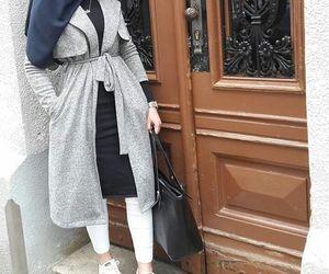 fall, hijab+fashion, and ootd image