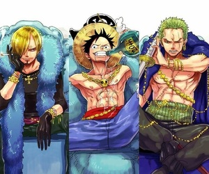 anime, one piece, and straw hat image