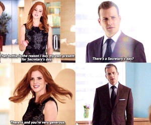 lol, suits, and harvey specter image