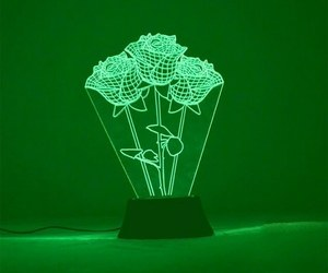 green, aesthetic, and rose image