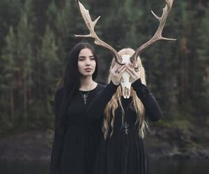 antlers, evil, and goth image