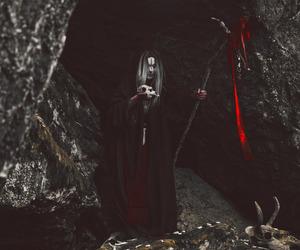 black, blood, and dark image