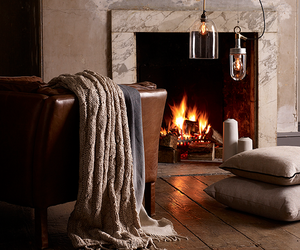 fireplace, interior, and cozy image