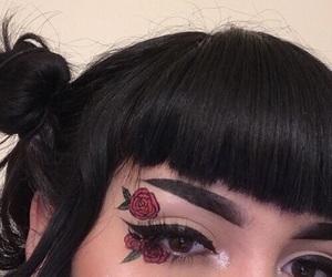 makeup, rose, and girl image