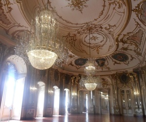 ceiling, chandelier, and ballroom image