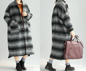 winter clothes, wool overcoat, and large size coat image