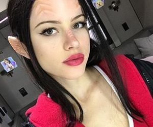 black hair, halston sage, and the orville image