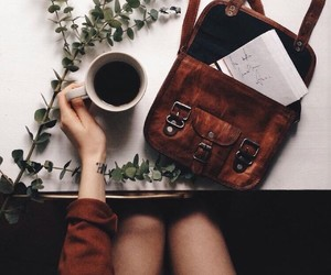coffee, bag, and plants image
