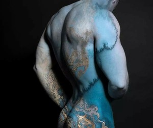 belleza, body painting, and moda image