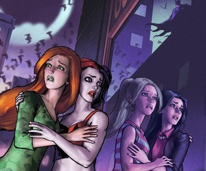 harleen quinzel, harley quinn, and poison ivy image