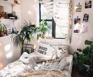 bedroom, interior, and hipster image