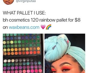 rainbow, makeup, and bh cosmetics image