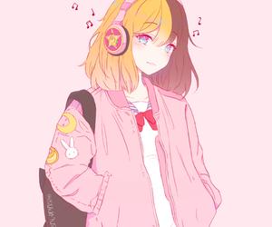 with hair girl Anime