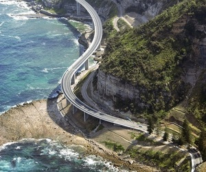 ocean, road, and travel image