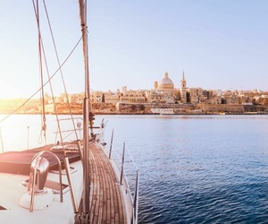 boat, harbour, and malta image