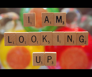 looking up and scrabble image