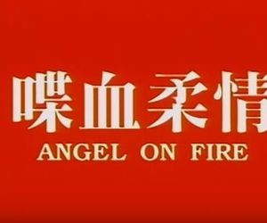 red and angel on fire image