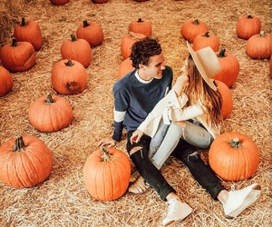 fall, pumpkin, and love image